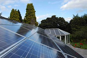 English: solar PV - Second largest Array in UK
