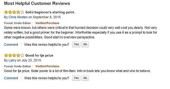 top solar mistakes amazon customer reviews